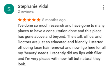 Google Reviews-Laser Hair Removal 2018 2